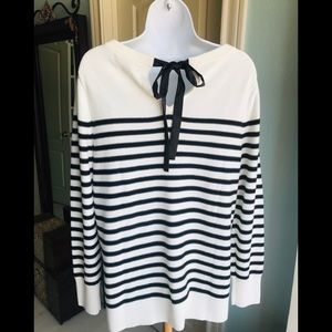 NWT Banana Republic striped sweater with bow